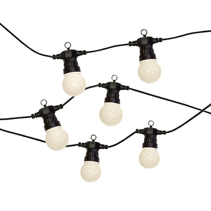LED 20x Globe Lightbulb Festoon String - White