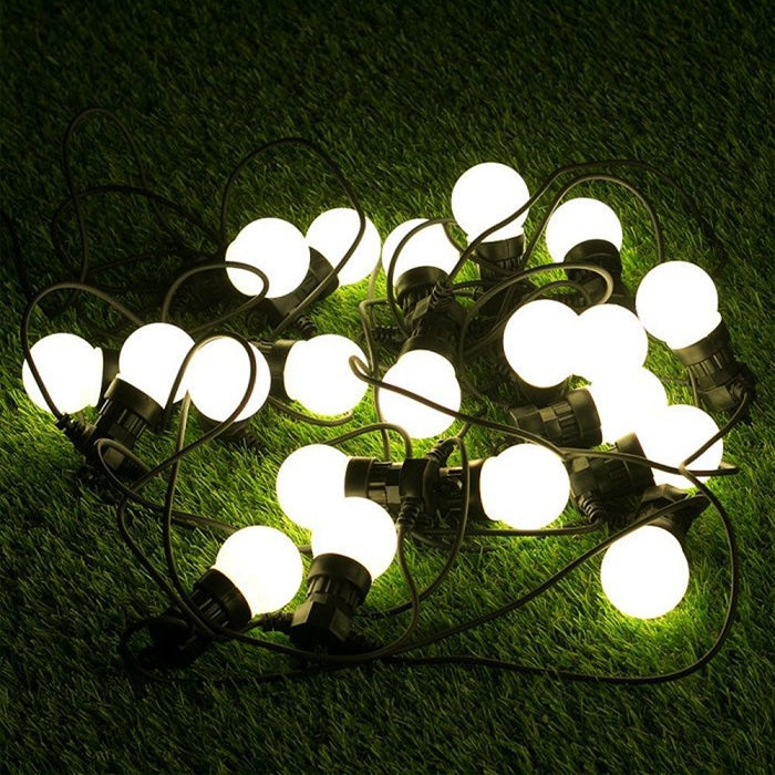 PowerMaster 3W LED Linkable Festoon Lights - 14.5m Length - White - Splashproof