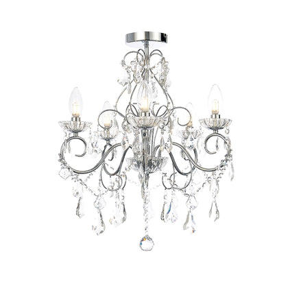 Spa 5-Light Ceiling Light Fixture - Chrome