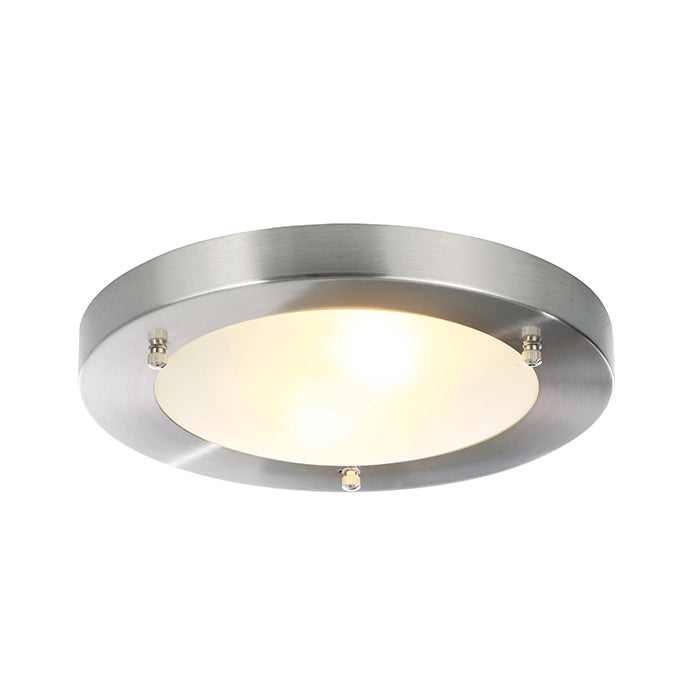 Inlight 2-Light Ceiling Light Fixture - Brushed Steel