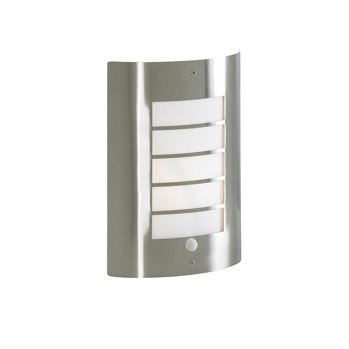 Zinc Outdoor Wall Light Fixture - Stainless Steel - PIR Sensor