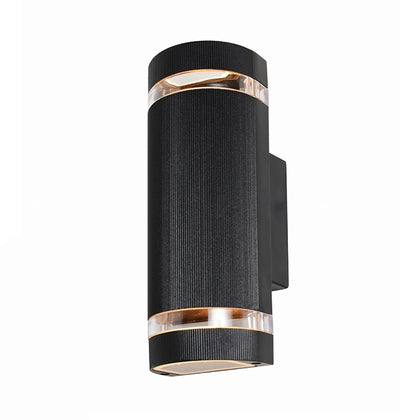 Zinc Outdoor 2-Light Wall Light Fixture - Black