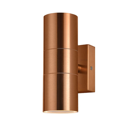 Zinc Outdoor 2-Light Wall Light Fixture - Copper
