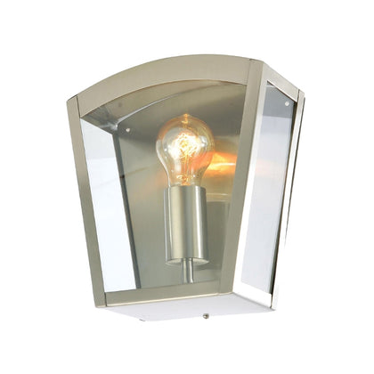 Zinc Outdoor Wall Light Fixture - Stainless Steel