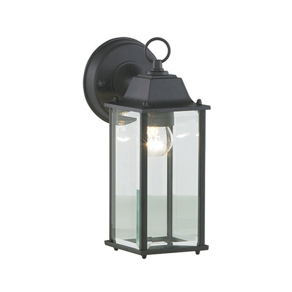 Zinc Outdoor Wall Light Fixture - Black