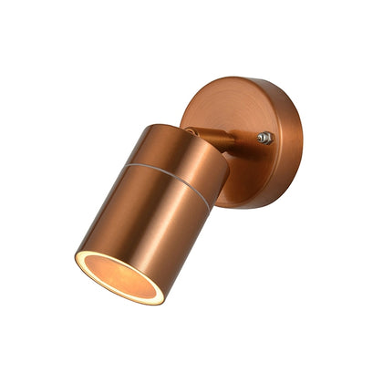 Zinc Outdoor Wall Light Fixture - Copper