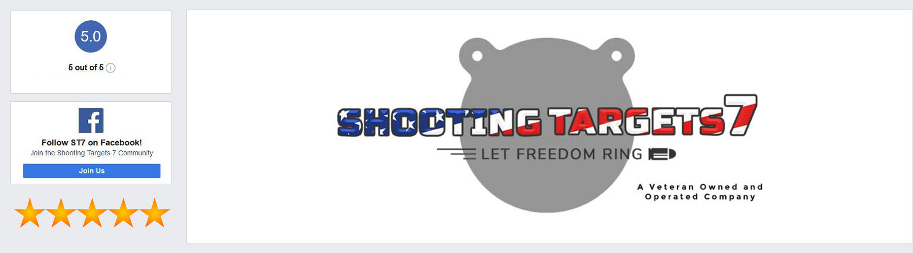 Shooting Targets 7 Facebook Reviews