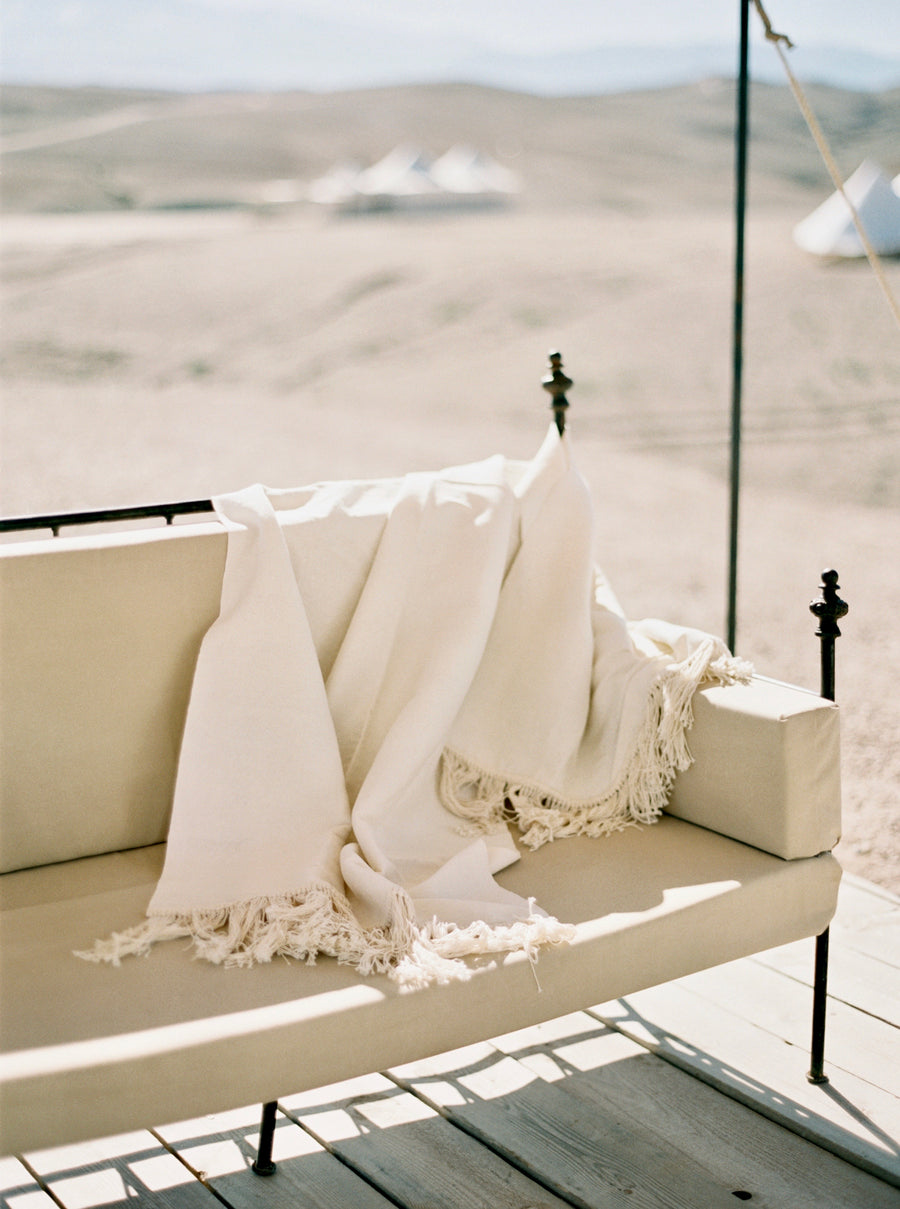 Egyptian Cotton Fringe Towel - Neutral