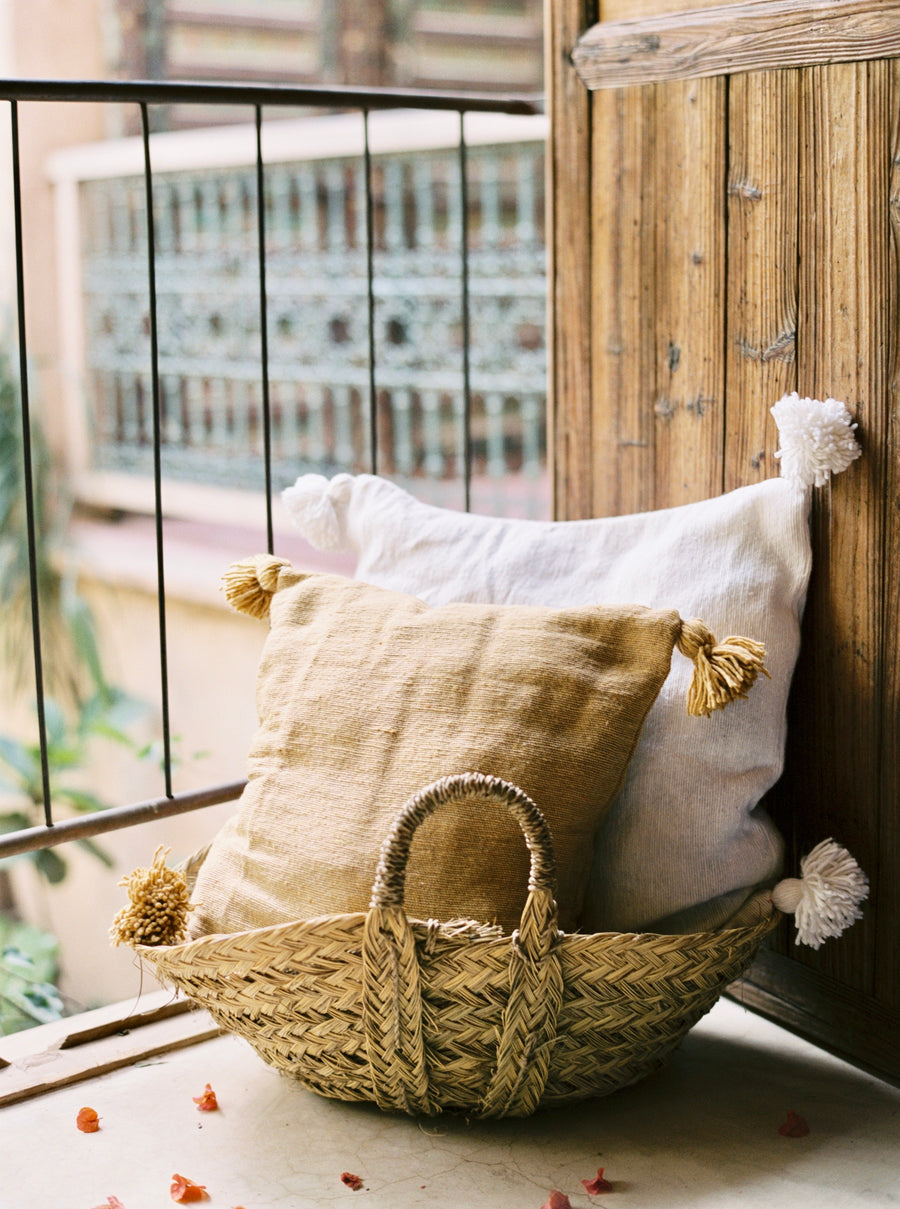Pom Pillow - Gold