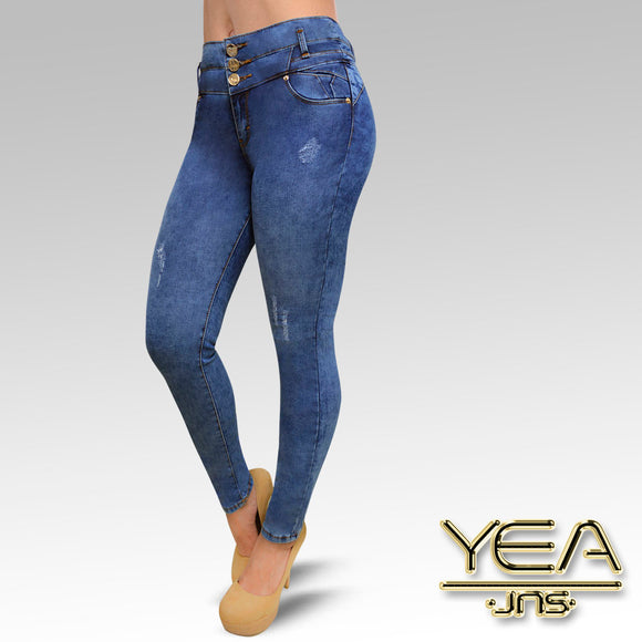 Jeans YEA-5165 Manchas Skinny