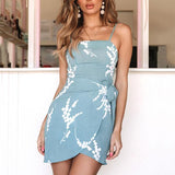 Fashion Lace-Up Slim Sleeveless Dress