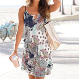 Bohemian Printed Sleeveless Dress