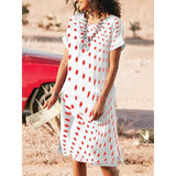 Women Round-Neck Printed Mini Dress