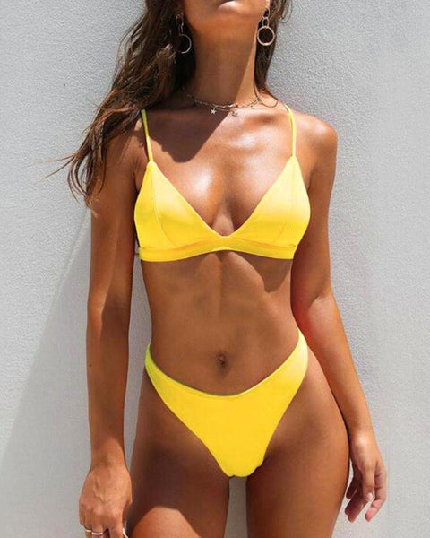 Triangle Two-Piece Bikini Set
