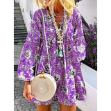 Floral Sweet V Neck Casual Dresses