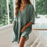 Casual Loose Solid Color Dress