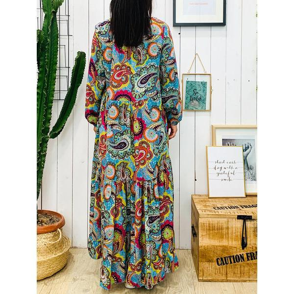 Vintage Plus Size Printed Dress