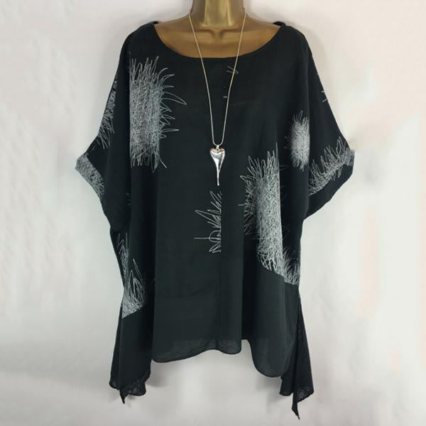 V Neck Loose Bat sleeveBlouse