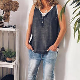 Casual Simple Sleeveless Blouse