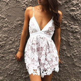 Sexy V-Neck Playsuit Swimsuit
