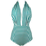 Printed Halter Sexy One-Piece Swimwear