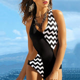 2019 Fashion Wave Point Bikini Swimwear