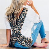 Casual Women Leopard & Polka Dot Blouse