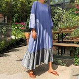 Long Sleeve Crew Neck Casual Dress