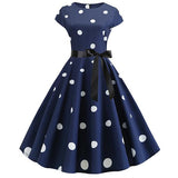 Elegant Evening Polka Dot Maxi Dress