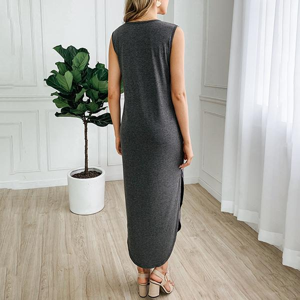 Casual Hollow Sleeveless Slim Dress