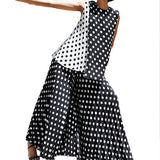 Bohemian Polka Dot Summer Sleeveless Dress