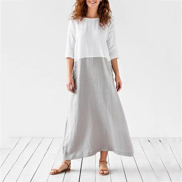 Round Neck Women Summer Dresses Daily Casual Dresses