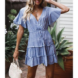 Boho Holiday V-neck Dress
