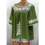 Women's Casual Embroidered T-Shirts Crew Neck Short Sleeve Blouse Tops