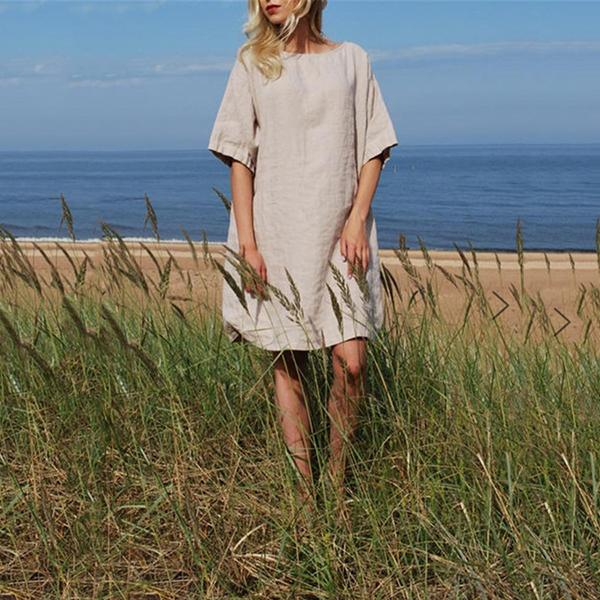 Casual Daily Solid Color Loose Dress