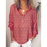 Women's Striped Loose Plus Size Blouses