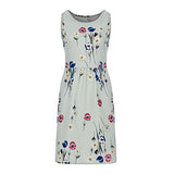 Casual Flower Printed Sleeveless Dress