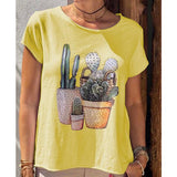 Cute Daily Short Sleeve Printed T-Shirt