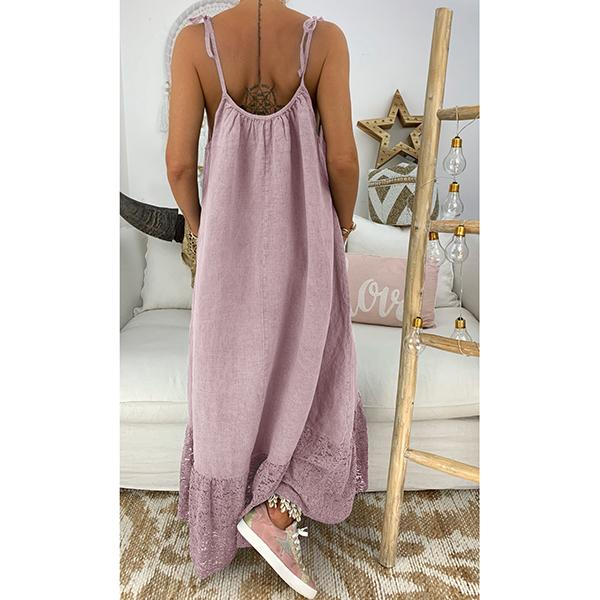 Sleeveless Solid Color Maxi Dress