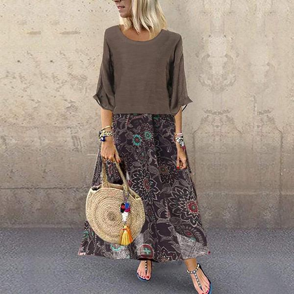Casual  Printed Maxi Dress