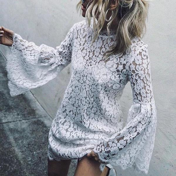 Fashion Lace Flared Chic Dress