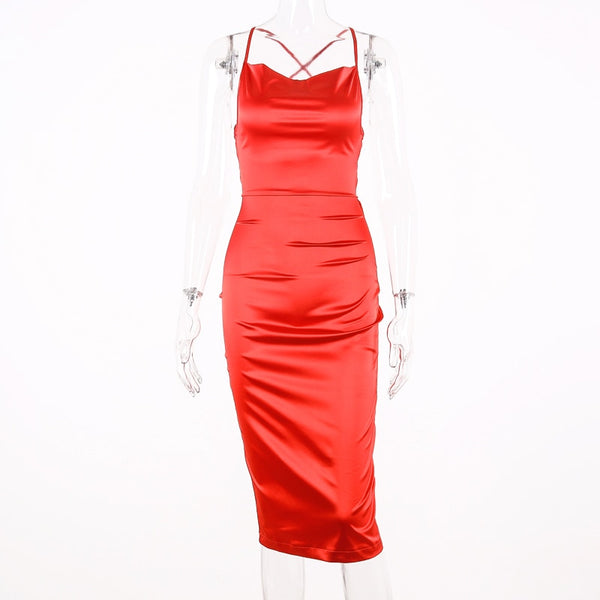 Summer women Bodycon Long Midi Dress Sleeveless Backless Elegant Party Outfits Sexy Club Dress Clothes