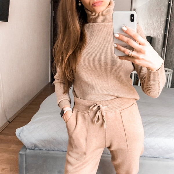 Turtleneck Women Sweater Winter Warm Female Jumper Thick Christmas Sweaters Ribbed Knitted Pullover Top
