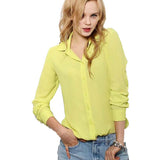 5 Colors Work Wear Women Shirt Chiffon Blusas Femininas Tops Elegant Ladies Formal Office Blouse Plus Size XXL