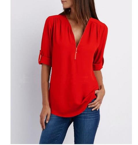 2020 Female Summer Black Solid Sleeve Elegant Tops Shirts Blouses Women Plus Wide Loose Casual Chiffon Blouse