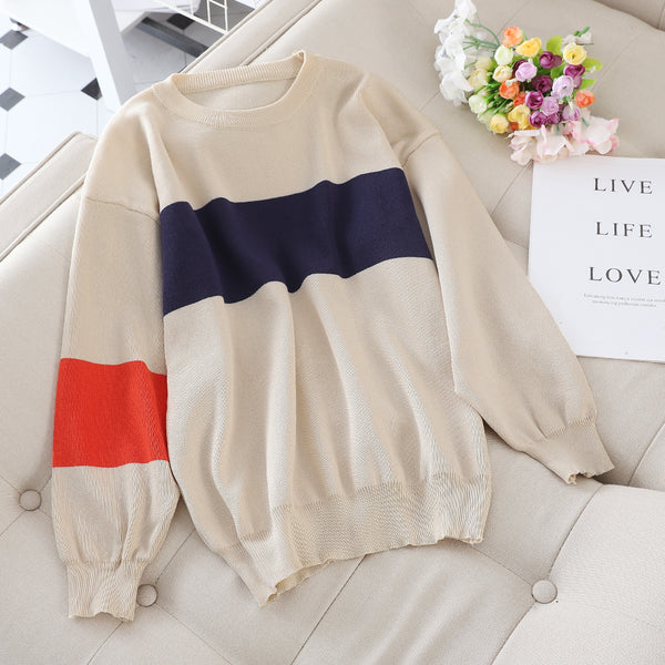 2020 New Korean Version Of The Loose Autumn Fashion Foreign Long-Sleeved Knitted Two-Piece Casual Sports Suit Female