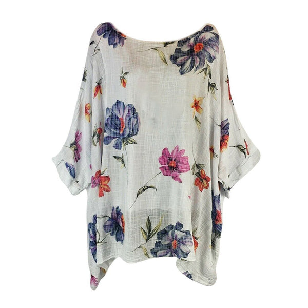Round Neck Printed Casual Shirt