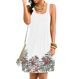 Plus Size Loose Sleeveless Printed Dress
