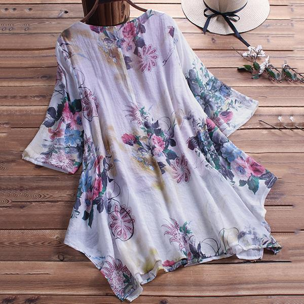 Elegant Irregular 1/2 Sleeve Blouse