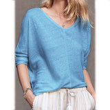 Women Crew Neck Paneled Casual Tops